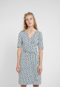 DKNY - FAUX WRAP DRESS - Jersey dress - cerulean combo - 0
