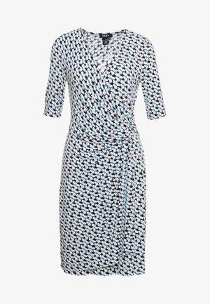 FAUX WRAP DRESS - Jerseykjoler - cerulean combo