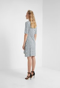 DKNY - FAUX WRAP DRESS - Jersey dress - cerulean combo - 2