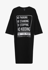 DKNY - ELBOW CREW NECK DRESS - Vapaa-ajan mekko - black - 4