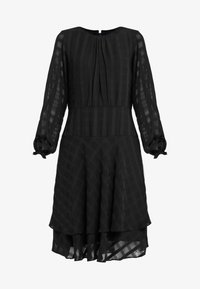 DKNY - FIT FLARE WITH DOUBLE LAYER SKIRT - Day dress - black - 4