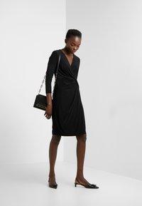 DKNY - NECK SIDE TWIST SHEATH - Shift dress - black - 1
