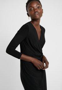 DKNY - NECK SIDE TWIST SHEATH - Shift dress - black - 3