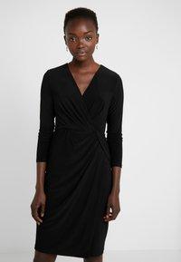 DKNY - NECK SIDE TWIST SHEATH - Shift dress - black - 0
