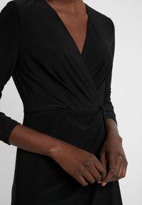 DKNY - NECK SIDE TWIST SHEATH - Shift dress - black - 5