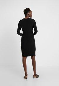 DKNY - NECK SIDE TWIST SHEATH - Shift dress - black - 2