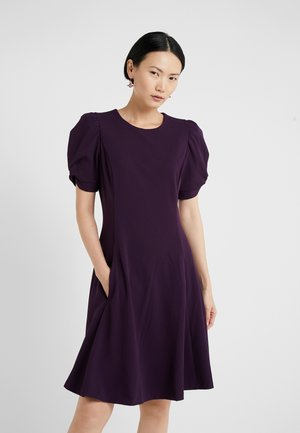 KNOT SLEEVE FIT FLARE - Day dress - aubergine