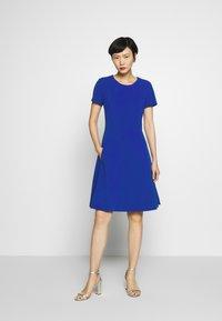 DKNY - FIT & FLARE - Jersey dress - sapphire - 1