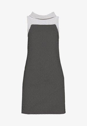 HIGH NECK SHEATH - Shift dress - black/ivory