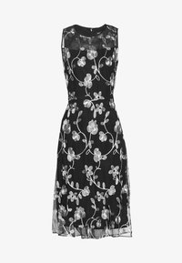 DKNY - MIDI BANDED FIT FLARE - Cocktail dress / Party dress - black/ivory - 3