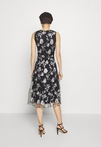 DKNY - MIDI BANDED FIT FLARE - Cocktail dress / Party dress - black/ivory - 2