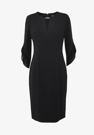 3/4 TULIP SLEEVE SHEATH - Shift dress - black
