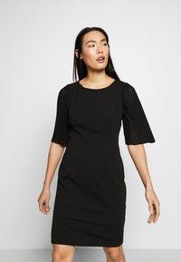 DKNY - PLEAT SLEEVE SHEATH - Shift dress - black - 0