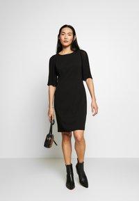 DKNY - PLEAT SLEEVE SHEATH - Shift dress - black - 1