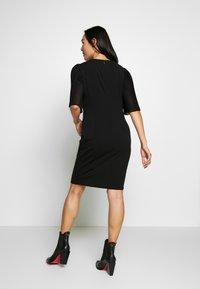 DKNY - PLEAT SLEEVE SHEATH - Shift dress - black - 2