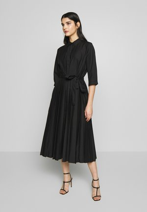 PLEATED SKIRT DRESS WITH BELT - Korte jurk - black