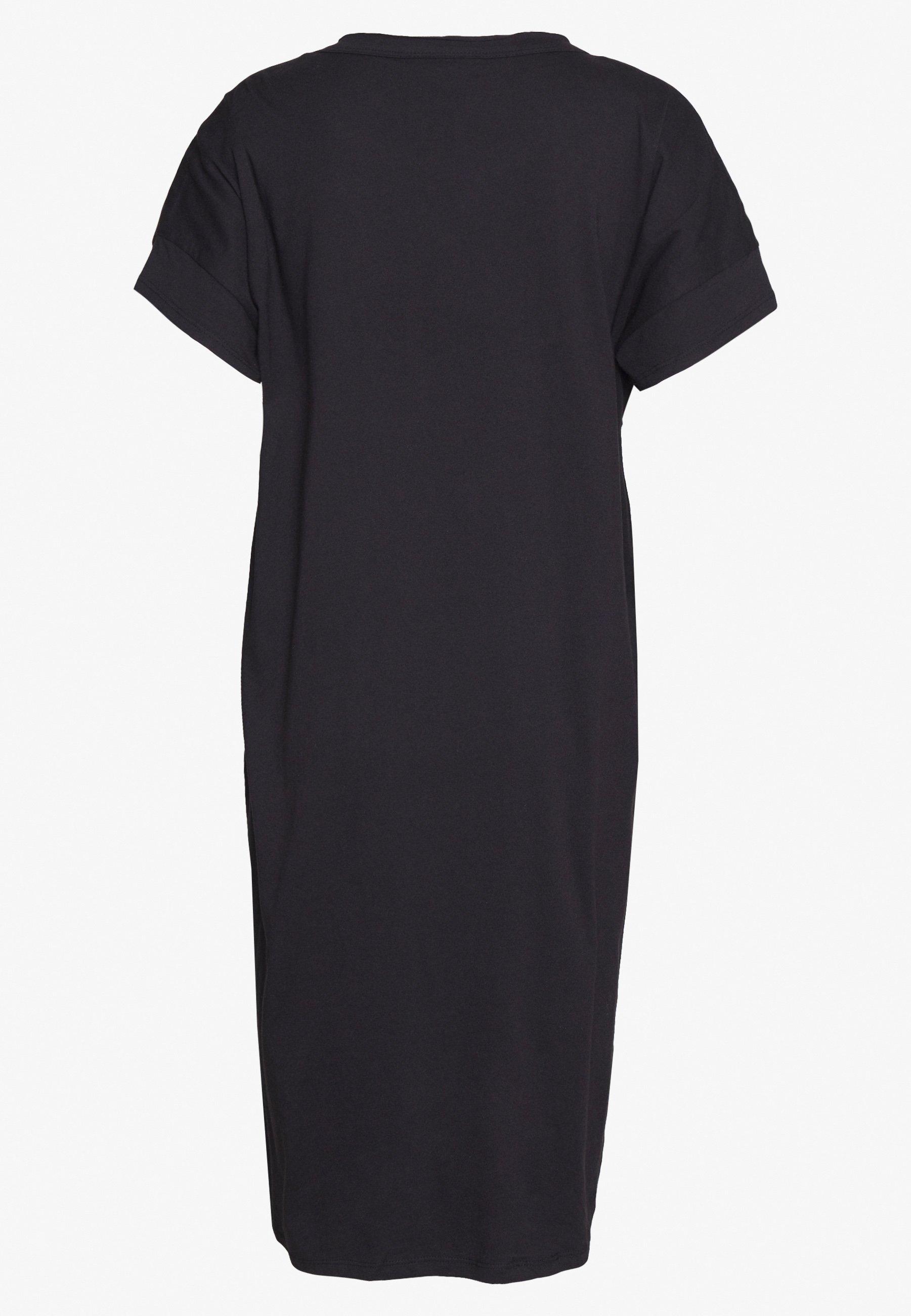 Dkny Logo Dress - Jerseykjoler Black/white
