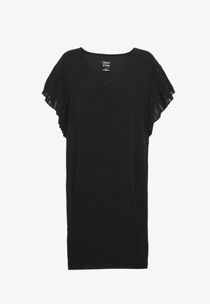 VNECK DRESS RUFFLE  - Day dress - black