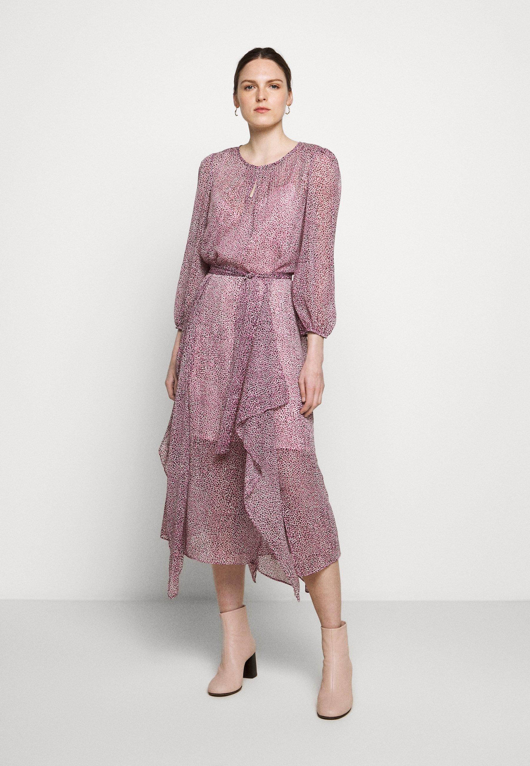 DKNY VNECK HI LOW DRESS WAIST SELF BELT Vapaa ajan mekko