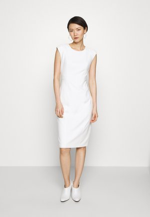 SHEATH WITH SHOULDER DETAIL - Shift dress - cream
