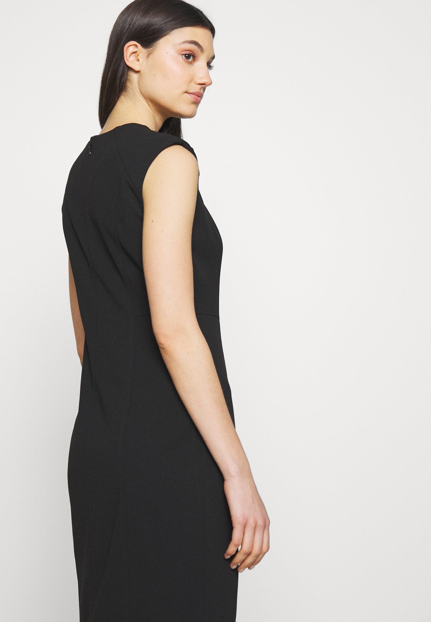 DKNY SHEATH WITH SHOULDER DETAIL - Sukienka etui - black