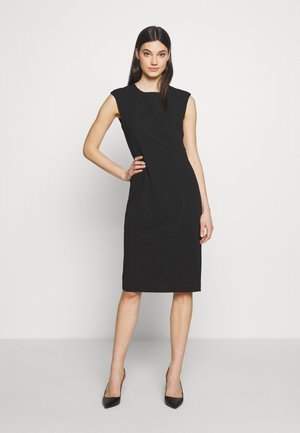 SHEATH WITH SHOULDER DETAIL - Shift dress - black
