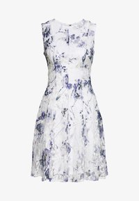 DKNY - RUFFLE EDGE FIT AND FLARE - Cocktailklänning - petunia white/lilac - 5