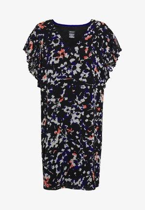 VNECK DRESS RUFFLE - Sukienka letnia - black/multi