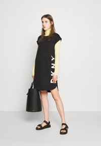 DKNY - CAP LOGO DRESS - Vestido informal - black - 1