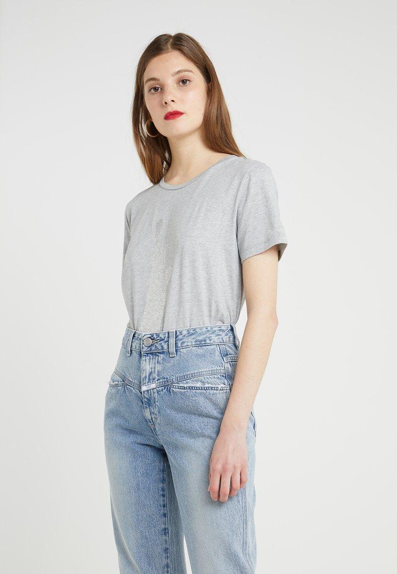 DKNY - CREW NECK STATUE OF LIBERTY TEE - T-shirts print - heather grey combo