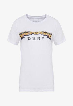 TAXI LINE LOGO TEE - T-shirt print - white