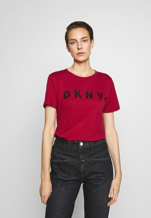 FOUNDATION LOGO TEE - Print T-shirt - red/black
