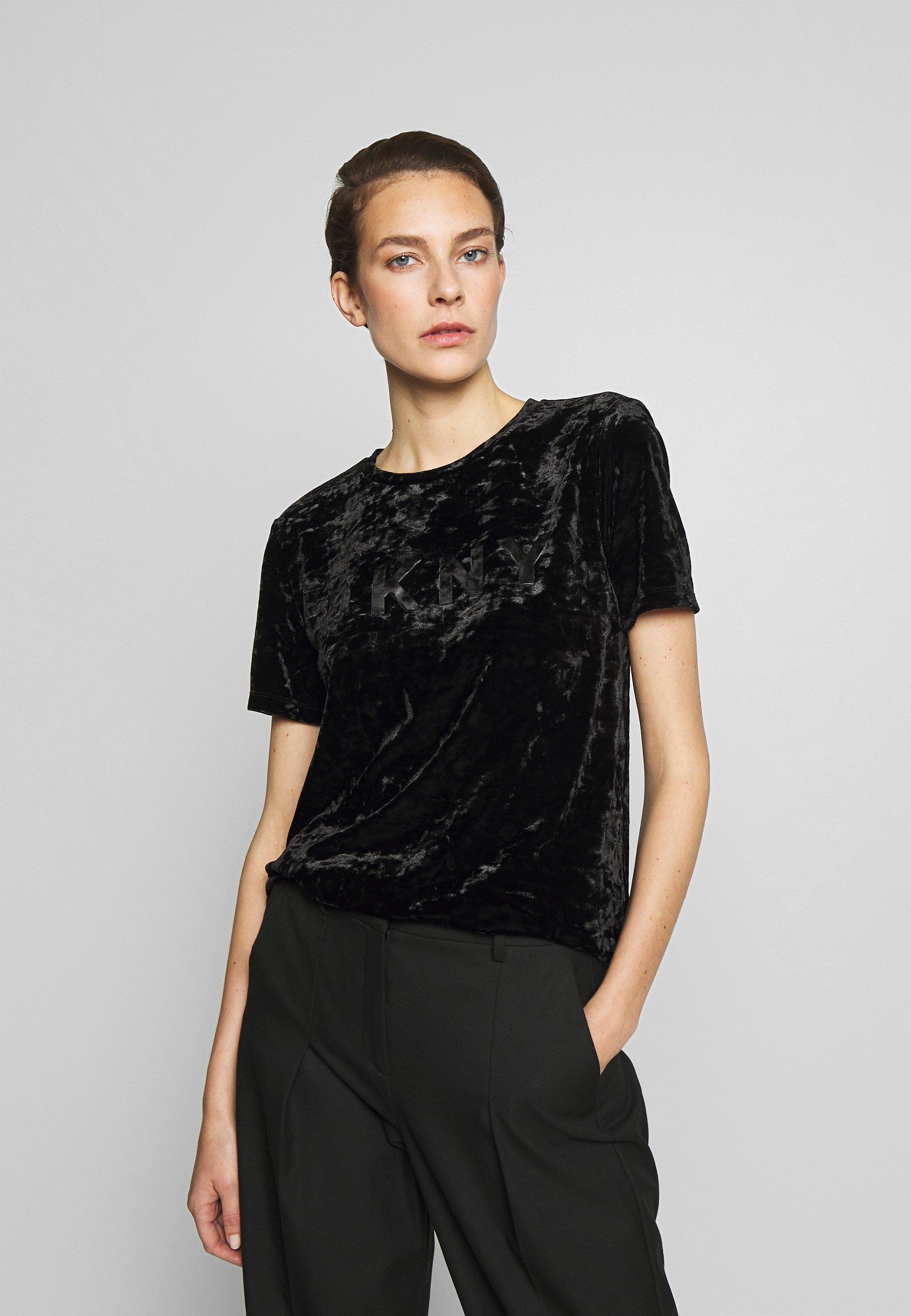 DKNY LOGO TEE - T-shirts med print - black