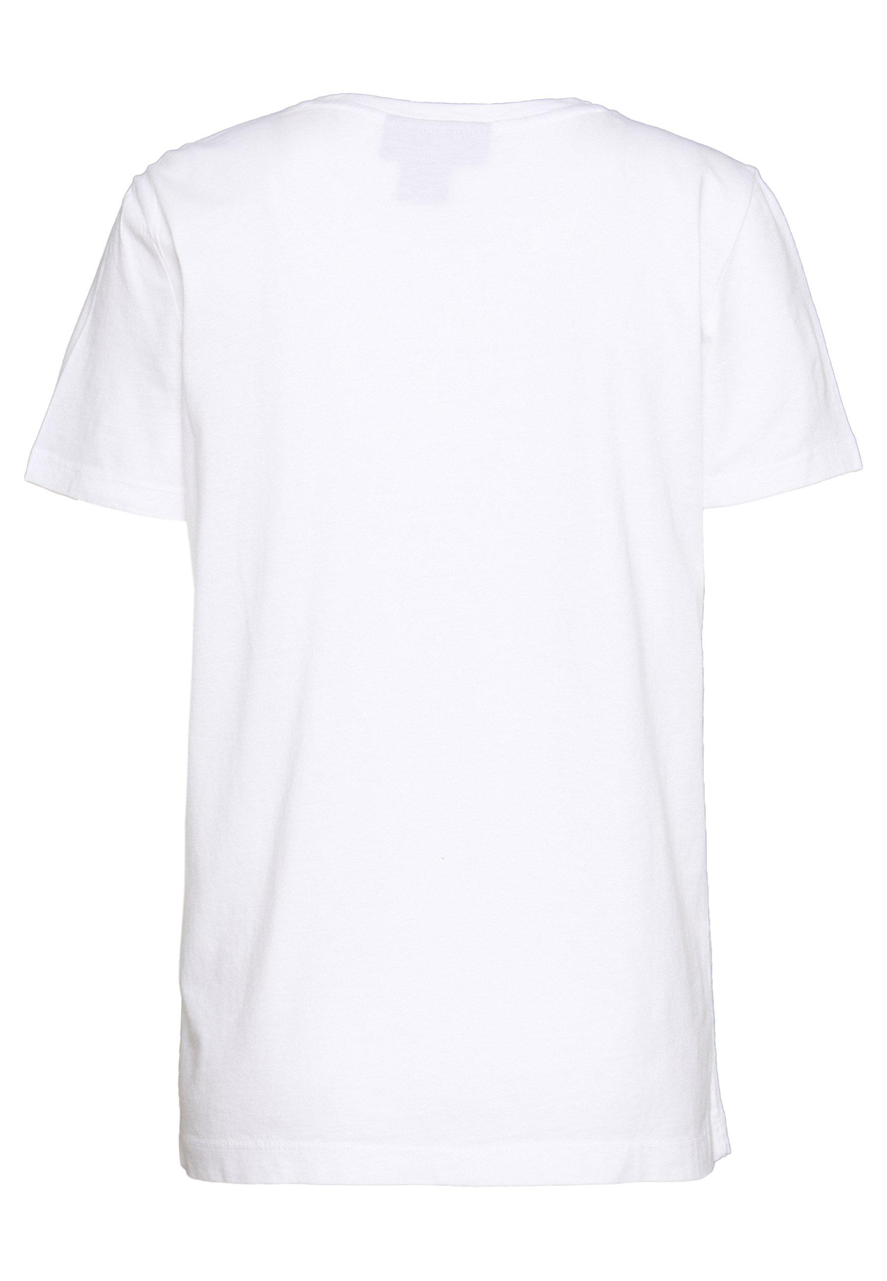 DKNY LOGO SEQUIN - T-shirt con stampa - white/black/magnolia