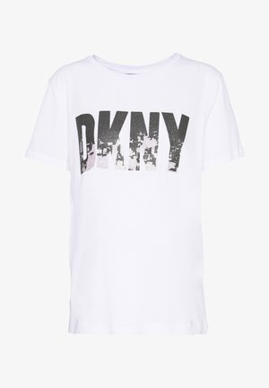GLITTER CITY SKYLINE IN LOGO - T-Shirt print - white/black