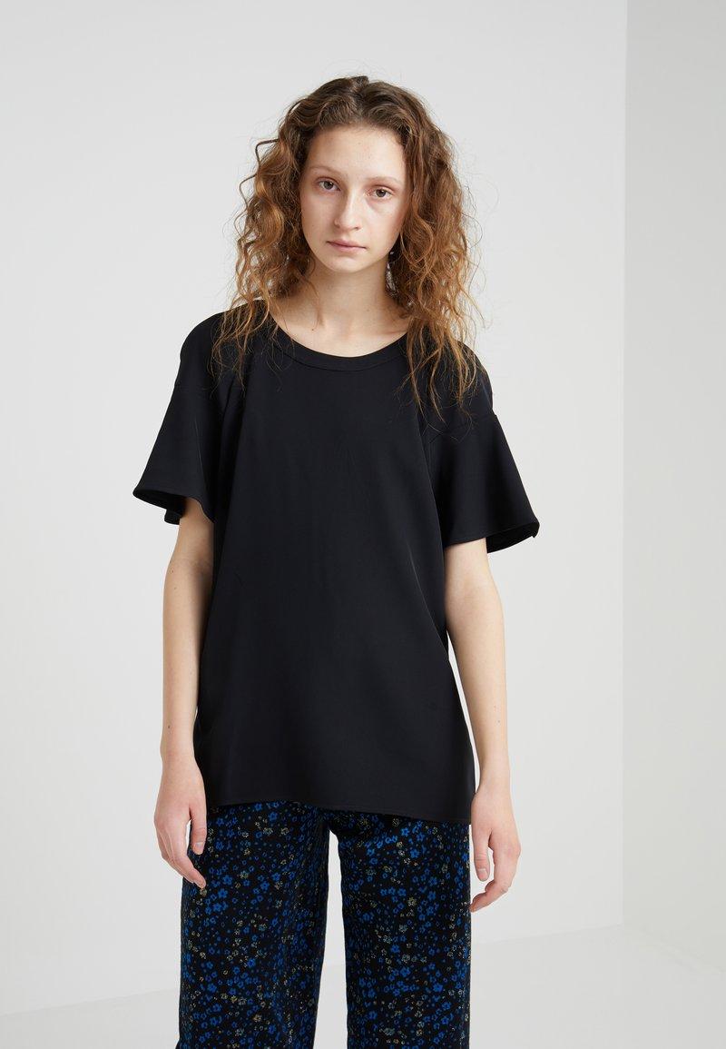 DKNY - CREW NECK RUFFLE - Bluse - black
