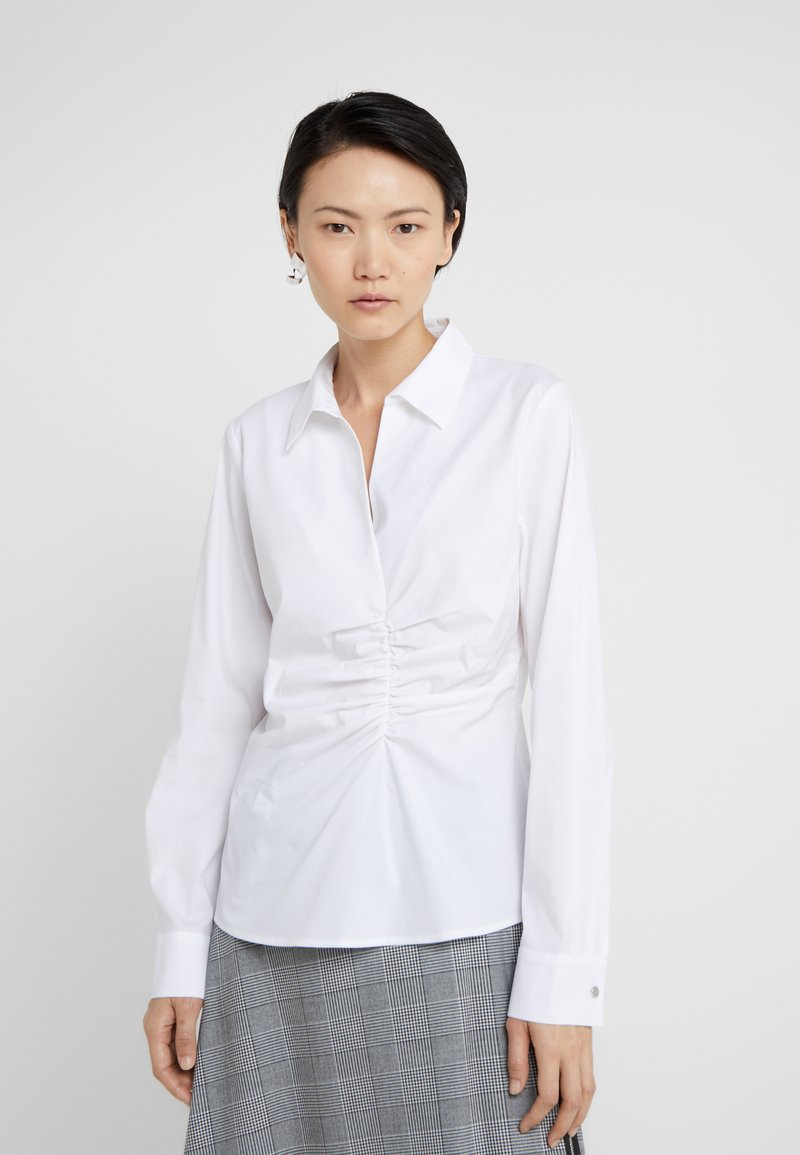 DKNY - RUCHED DETAIL - Blouse - white