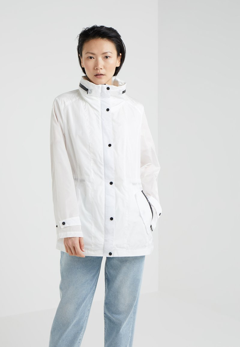 DKNY - ZIP FRONT JACKET CINCH WAIST - Parka - white