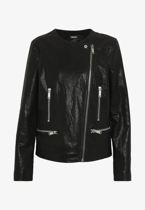 MOTO JACKET - Giacca in similpelle - black