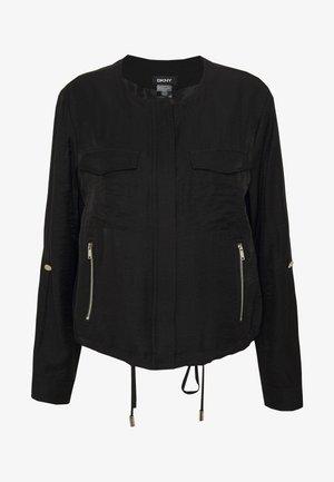 ZIP FRONT  - Lehká bunda - black