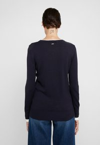 DKNY - CREW LAYERED CUFF - Jumper - new navy/ivory - 2