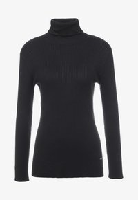 DKNY - SOLID TURTLENECK - Strickpullover - black - 4