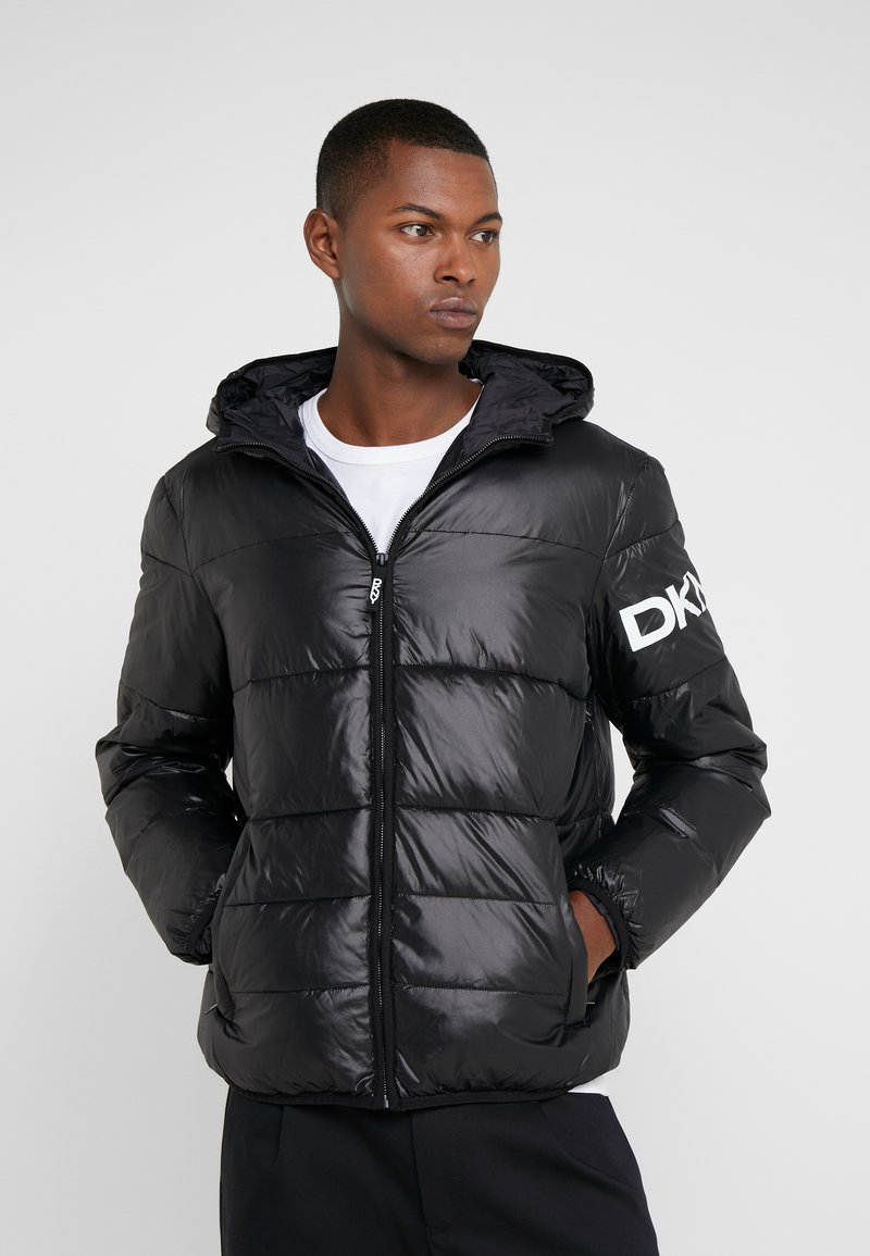 DKNY - LOGO PUFFER - Light jacket - black