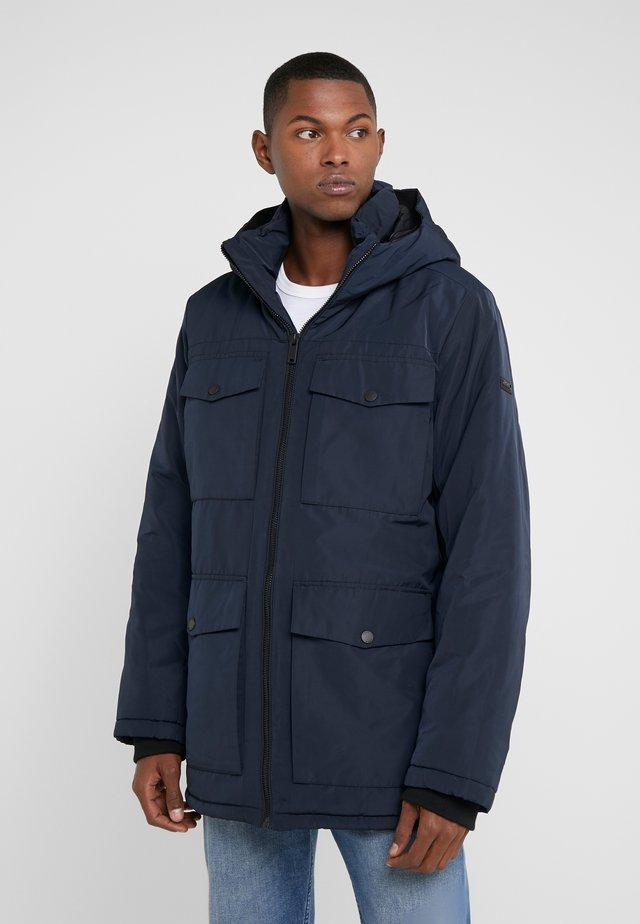 HOODED RAIN - Short coat - navy