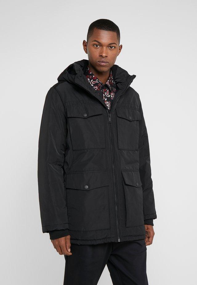HOODED RAIN - Short coat - black