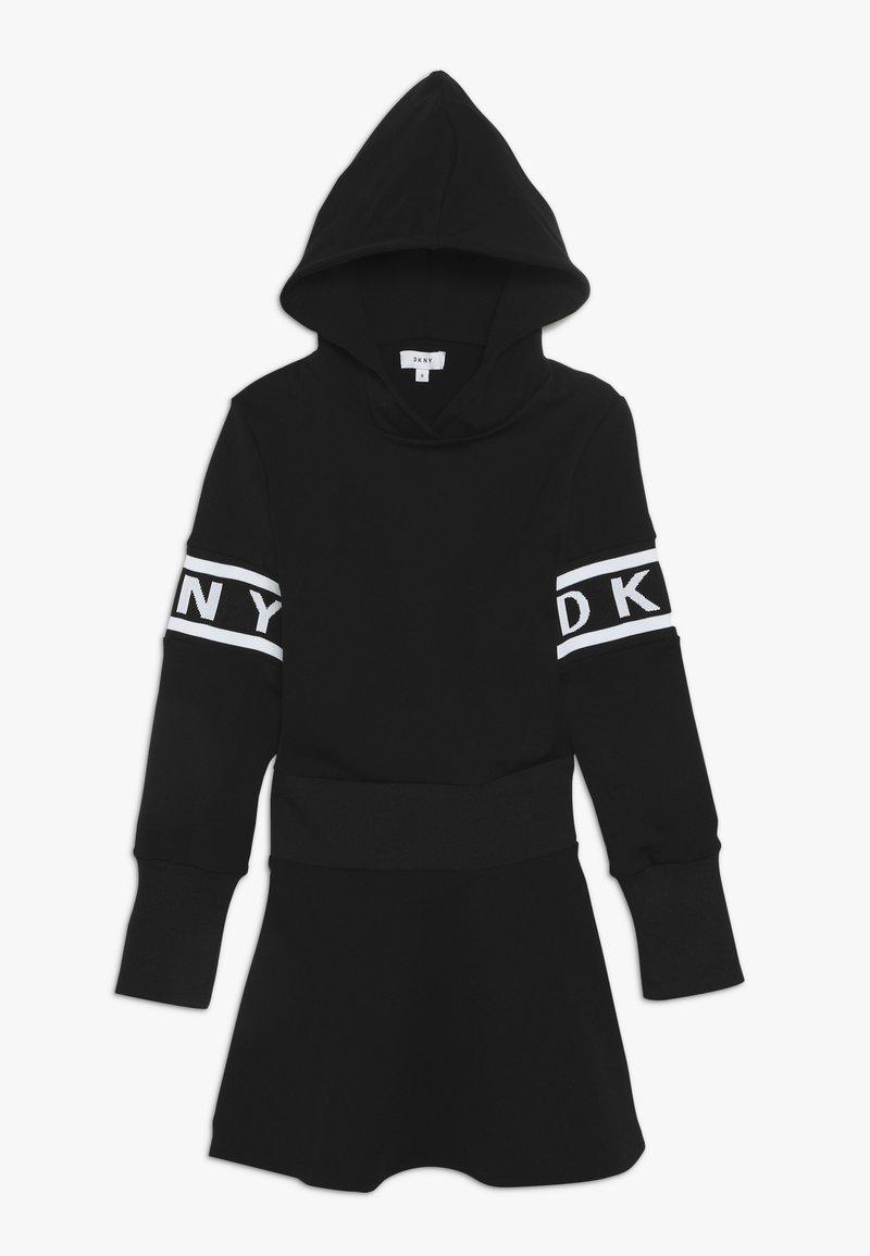 DKNY - LANGARM - Jersey dress - schwarz