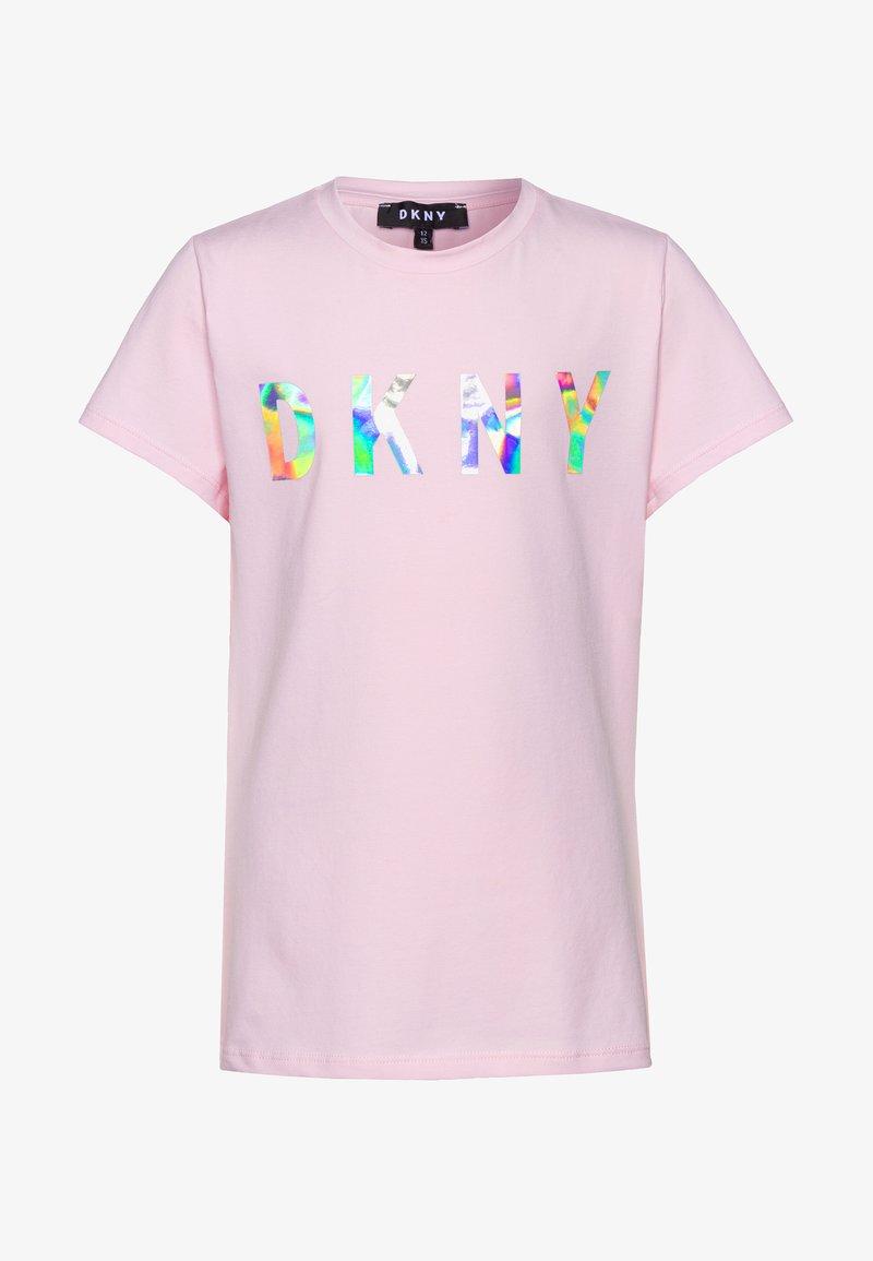 DKNY - SHORT SLEEVES - Print T-shirt - pale pink