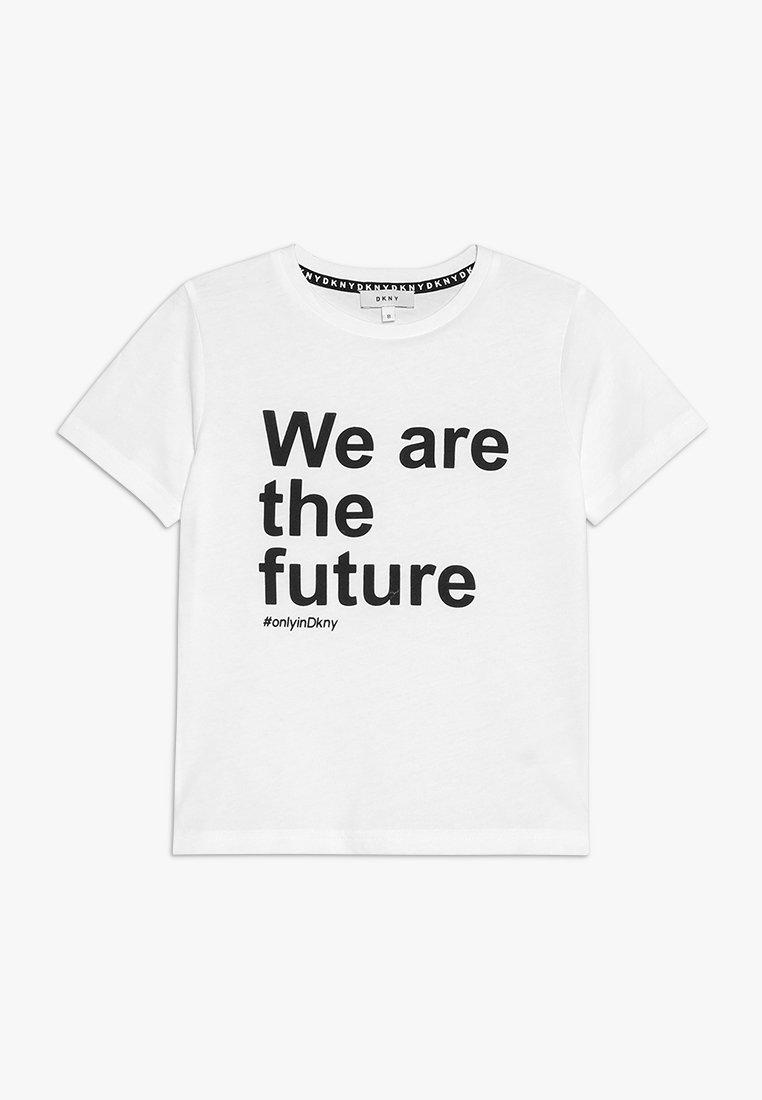 DKNY - KURZARM - Print T-shirt - weiß