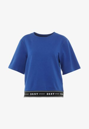 SHORT SLEEVE LOGO ELASTIC BOTTOM  - Sweater - lapis