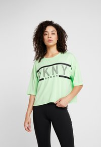 DKNY - CROPPED LOGO TEE - T-shirt med print - spearmint - 0